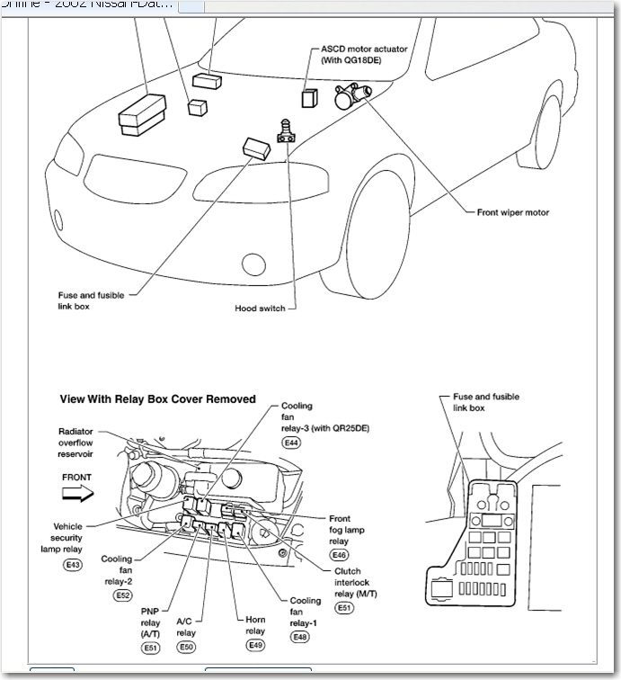 Similiar 2002 Nissan Altima Fuse Box Diagram Keywords