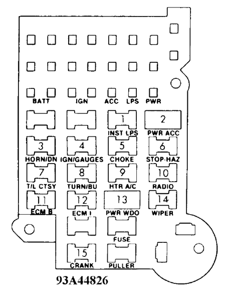 1987 chevy s10 fuse box diagram