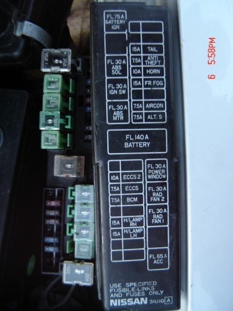 1997 Datsun 300z Compartment Fuse Box Diagram