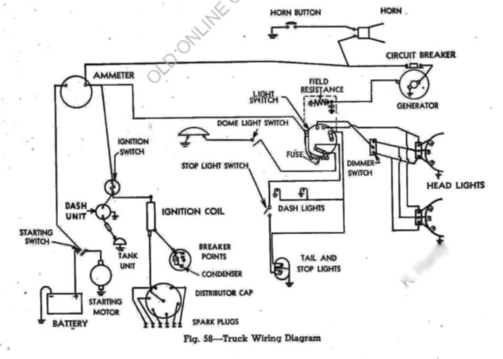 1954 ford ignition wiring diagram