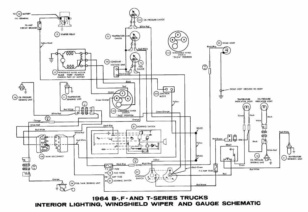 1963 Ford F100 Wiring Diagram. Ford. Auto Wiring Diagram