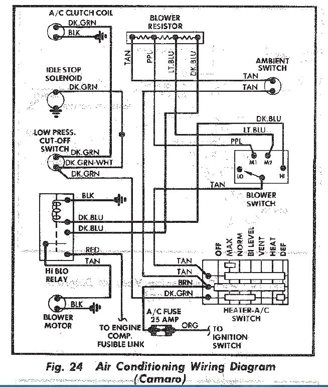 1971 Camaro Wiring Diagram 1971 Camaro Air Cleaner Wiring