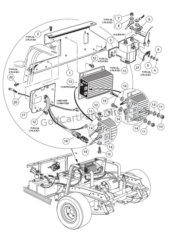 1998 Club Car Golf Cart Wiring Diagram 1994 Club Car