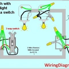 Three Way Switch Diagram Two Lights Wiring For 3 | House Electrical With How To Wire A ...