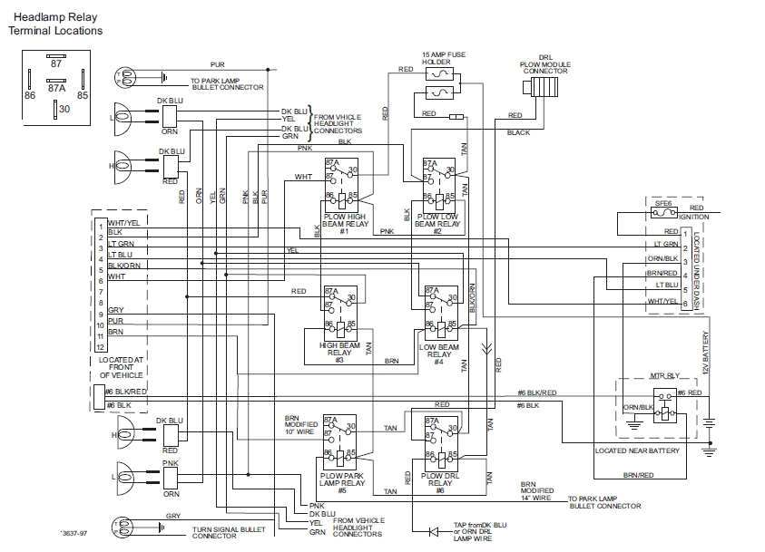 snow plow wiring diagram for switch