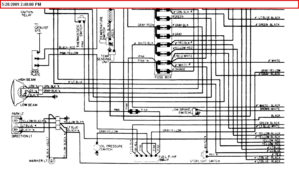 A Diagram For The Ignition Wiring For A 1975 Fiat Spider