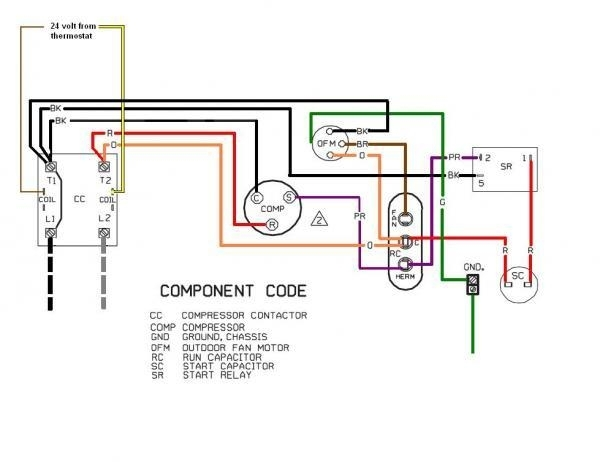wiring diagram for an evaporator fan motor