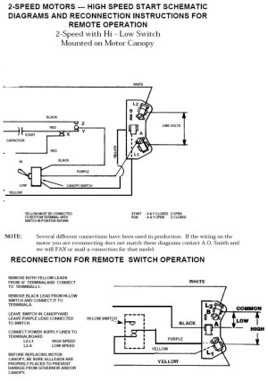Ao Smith 2 Speed Motor Wiring Diagram | Fuse Box And