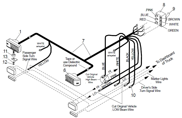 Hiniker Plow Wiring Diagram Hiniker Snow Plow Diagram