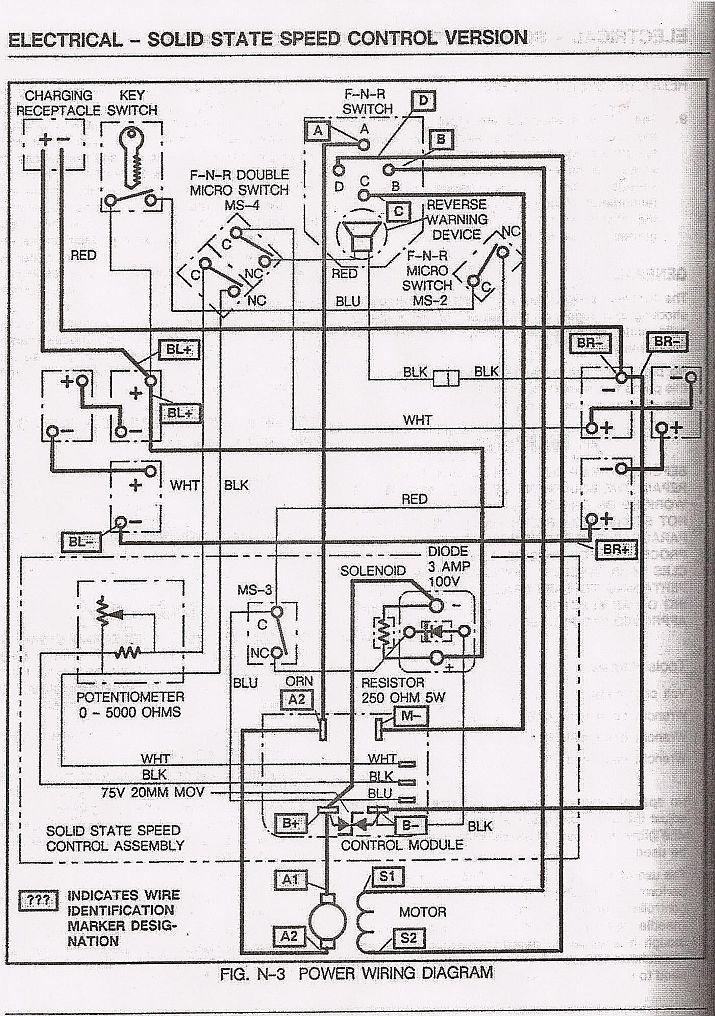 wiring diagram for ez go golf cart electric one wire alternator basic ezgo and manuals throughout 1987 ...