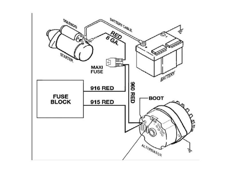 one wire alternator diagram