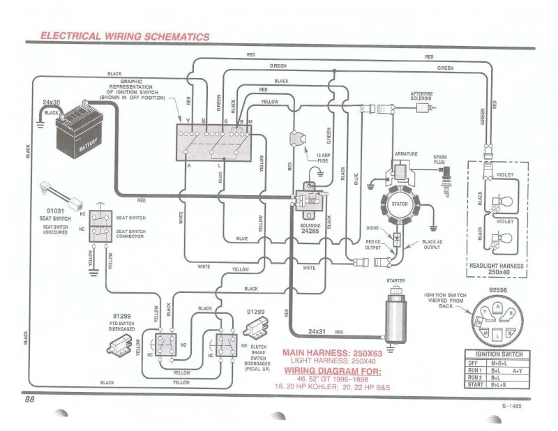 craftsman wiring harness diagram