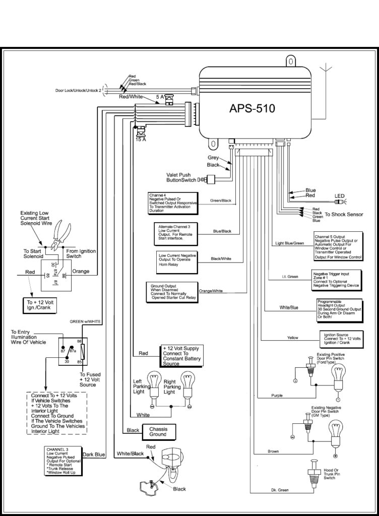 Viper 1002 Alarm Wiring Diagram - Catalogue of Schemas on