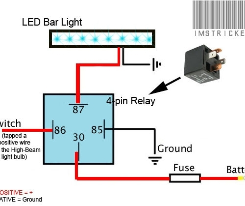 led light bar wiring diagram with relay diagrams for warn winch solenoids cool harness throughout ...