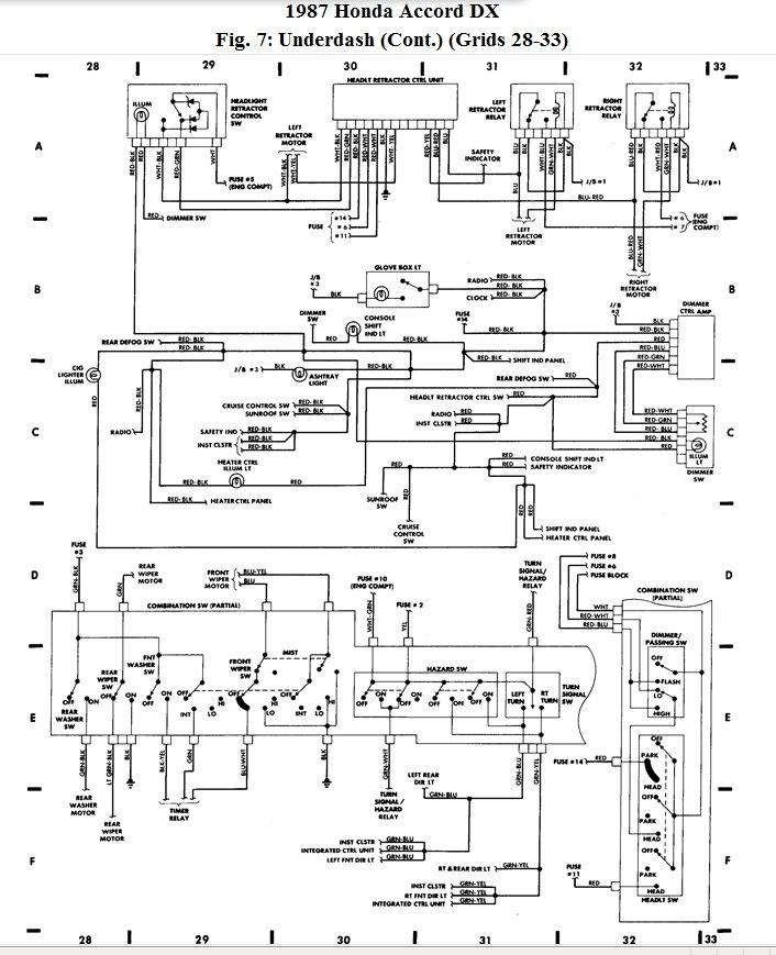 [DIAGRAM] 1994 Honda Accord Ex Wiring Diagrams FULL