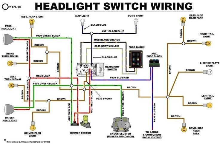 69 chevy headlight switch wiring diagram