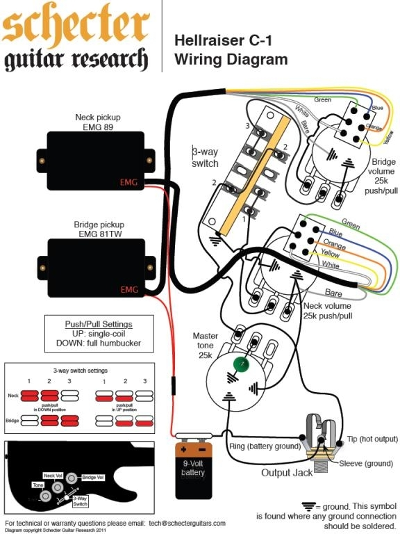 emg wiring diagram pa2 three line electrical 81 85 two volume 3 way switch 48 pickups on images schematics within resize