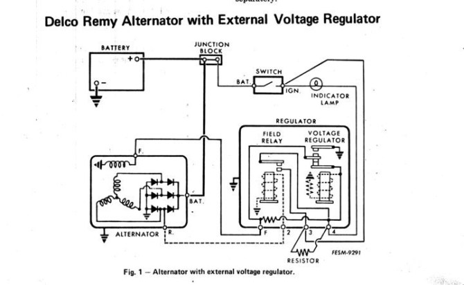 diagram delco alternator wiring diagram external regulator