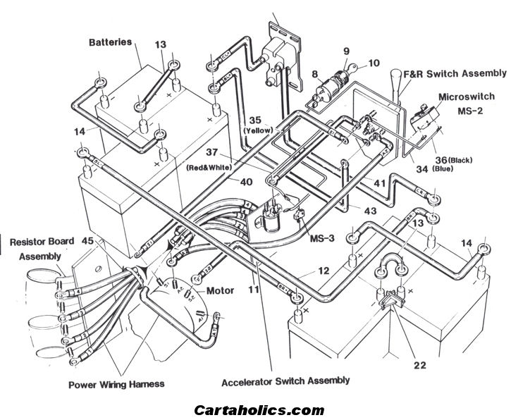 fairplay golf cart battery wiring diagram