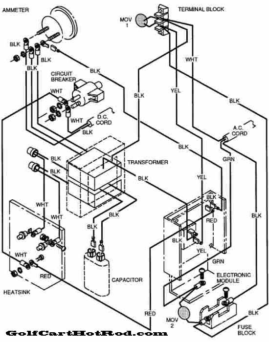 1987 ezgo 36 volt electric golf cart wiring diagram