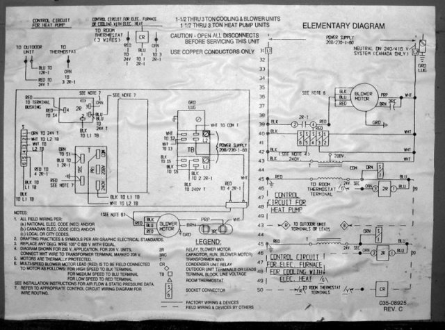 Goodman Heat Pump Schematic Diagram