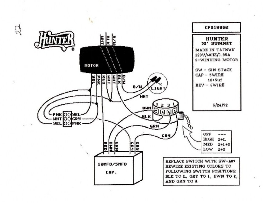 Hampton Bay 3 Speed Ceiling Fan Switch Wiring Diagram in