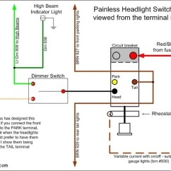 1970 Vw Fastback Wiring Diagram For A Tekonsha Trailer Brake Controller Headlight Dimmer Switch Painless In ...
