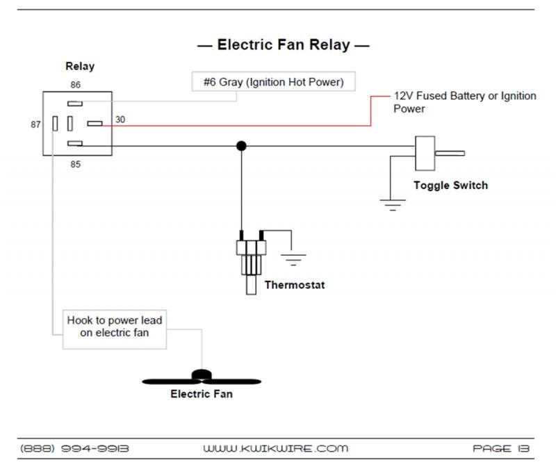 dual electric fan relay wiring diagram