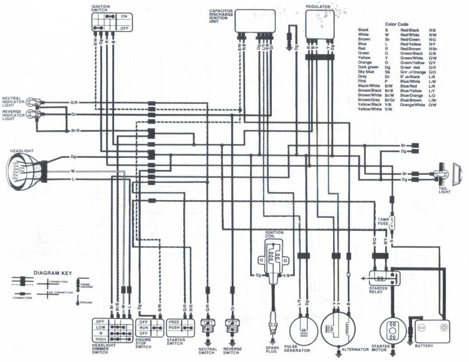 honda xr 125 wiring diagram piranha dual battery system 110 atv regarding ...