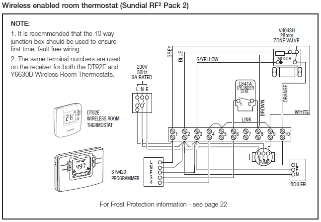 Honeywell Thermostat Ct410b Wiring Diagram : Honeywell rth thermostat wiring diagram
