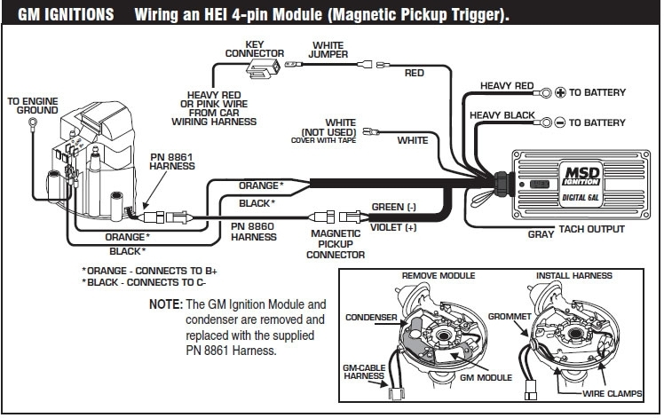 how to install an msd 6a digital ignition module on your 1979 1995 throughout msd ignition wiring diagram?resize\\\=665%2C419\\\&ssl\\\=1 gm hei wiring diagram 1983 on gm images free download wiring gm ignition wiring diagram at nearapp.co