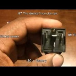 Bosch 4 Pin Relay Wiring Diagram Sketch Online How To Wire A 30/40 Amp - Youtube Throughout 12v 30   Fuse Box ...