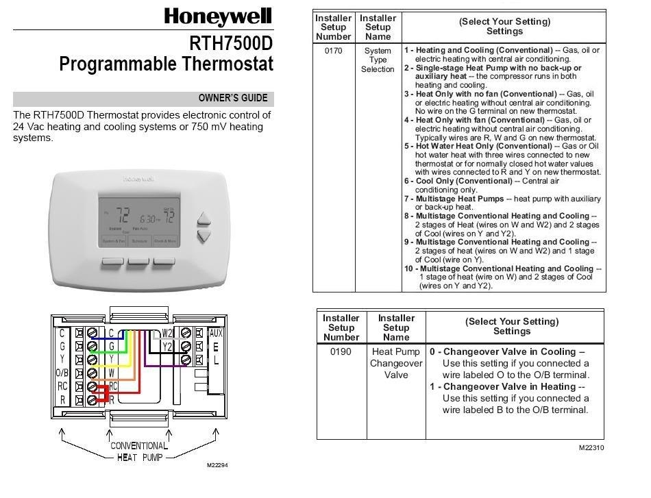 installing honeywell rth7500d thermostat at heat pump wiring regarding honeywell thermostat wiring diagram honeywell thermostat wiring diagram Heat Pump Thermostat Wiring Diagrams at gsmx.co