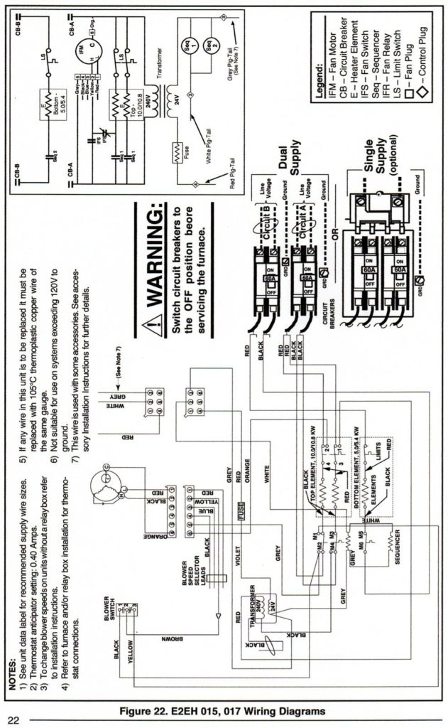 wiring diagram electric furnace