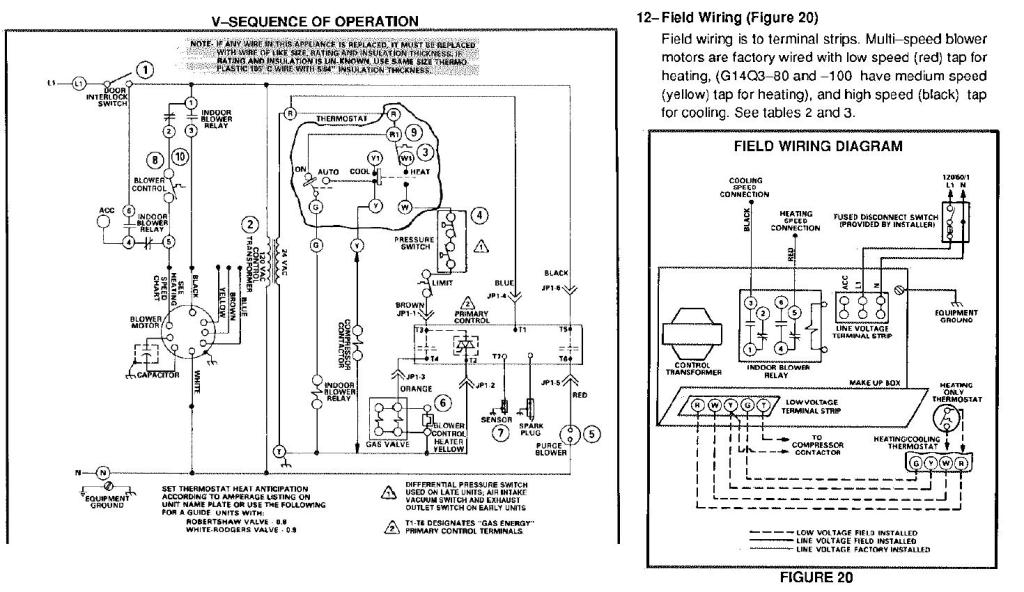 lennox g1404 furnance blower motor wiring foul up doityourself with blower motor wiring diagram old lennox thermostat wiring diagram dolgular com  at bakdesigns.co