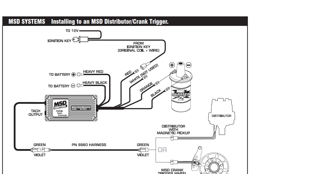 Msd Wiring Diagram Note In This Diagram The White Wire Can