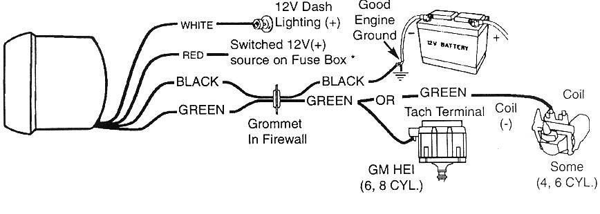 Autoe Tach Wiring - Auto Electrical Wiring Diagram on