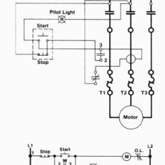 Start Stop Jog Wiring Diagram Bryant Thermostat Three-wire Control Circuit With Indicator Lamp Throughout 3 Wire ...
