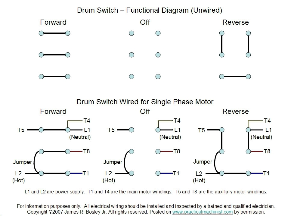 240v Single Phase Wiring Diagram : V single phase diagram wiring images