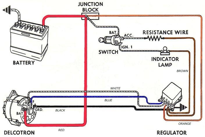delco generator wiring diagram zafira b bolens remy starter 50 what the heck is this resistor wired on my alternator archive with