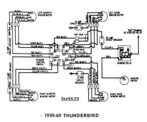 Windows Wiring Diagram For 195960 Ford Thunderbird | All About intended for 1959 Chevy Impala