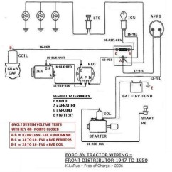 Ford 8n Generator Wiring Diagram 1992 Honda Civic Fuse Box Tractor Auto Electrical 1950 On Images