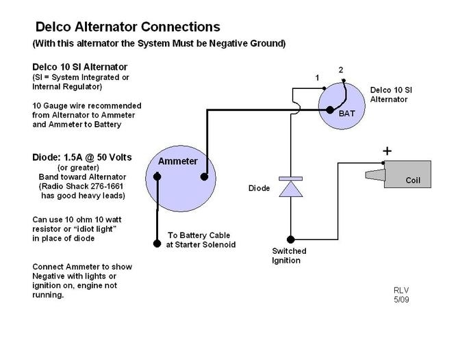 wiring diagram for 1 wire delco alternator readingrat in delco alternator wiring diagram delco 10si alternator wiring diagram & delco 10si alternator delco 10si wiring diagram at n-0.co