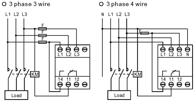 4 wire 3 phase wiring diagram