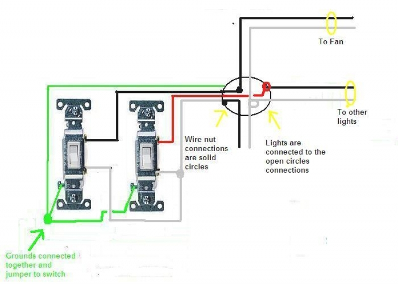 Awesome Wiring Double Switch Contemporary Images For Image Wire