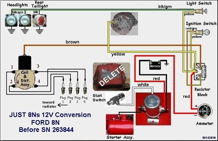 wiring diagram for ford 8n 12 volt readingrat regarding ford 8n wiring diagram ford 8n generator wiring wiring diagram simonand ford 8n alternator conversion diagram at edmiracle.co