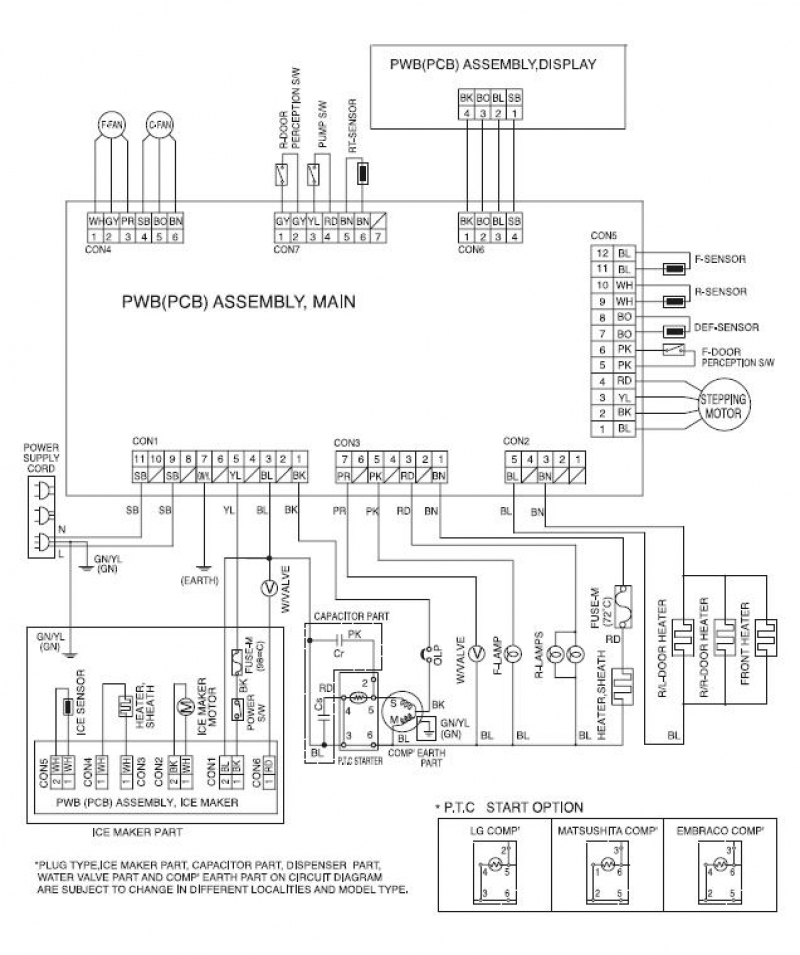 wiring diagram for kenmore elite refrigerator readingrat pertaining to kenmore elite refrigerator wiring diagram?resize=665%2C794&ssl=1 basic wiring diagram of refrigerator the best wiring diagram 2017 mini fridge thermostat wiring diagram at gsmx.co