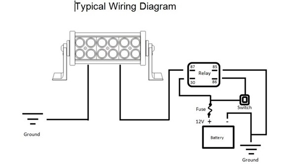 Wiring Diagram For Light Bar pertaining to Led Light Bar