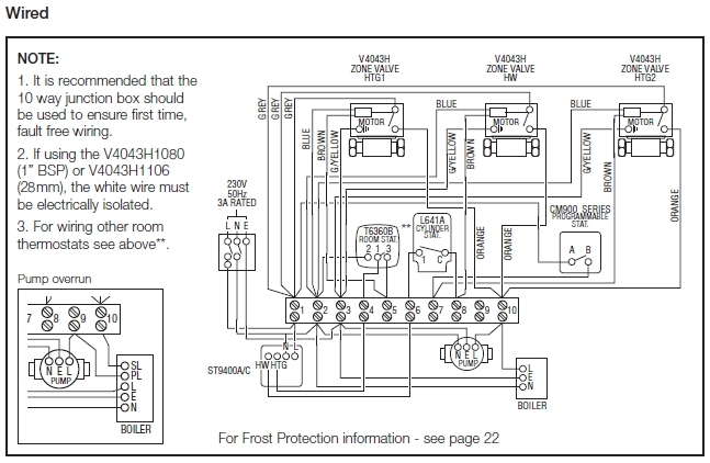 wiring diagram for y plan
