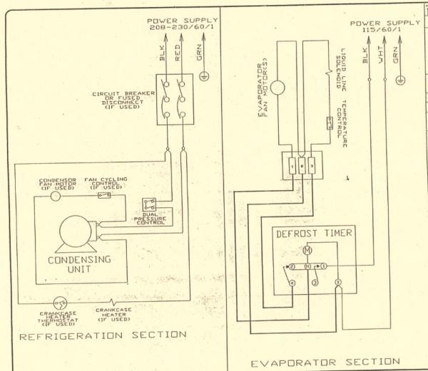 Wiring Diagram For Walk In Cooler - Wiring Diagram Shw on